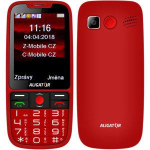 ALIGATOR A890 GPS Senior červený