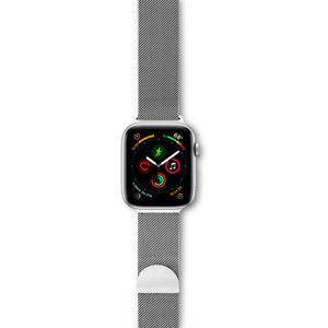 EPICO Milanese řemínek Milánský tah Apple Watch 42/44mm stříbrný