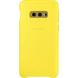 Samsung EF-VG970LY kožený zadní kryt Samsung Galaxy S10e žlutý