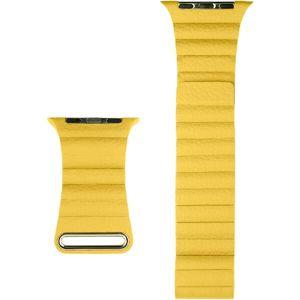 COTEetCI kožený magnetický řemínek Loop Band pro Apple Watch 42/44mm žlutý