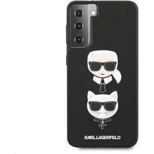 Karl Lagerfeld Saffiano K&C Heads kryt Samsung Galaxy S21+ černý
